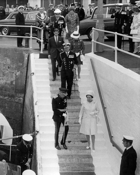 The departure of the Royal Family from Haldon Pier on Monday morning, July 28,1969.