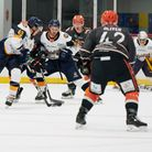 Raiders in action against Telford Tigers in the NIHL Spring Cup