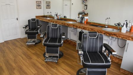 Brand new barbers B1 Barbershop in Horsford where owners Richard Lansdell and Jack Buckles are prepa