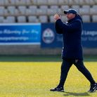 Gary Johnson, Manager of Torquay United at the final whistle during the National League match betwee