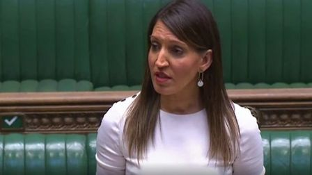 Rosena Allin-Khan speaks in the House of Commons. Photograph: Parliament TV.
