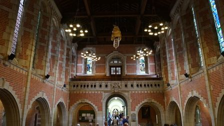 Inside the Great Hall.