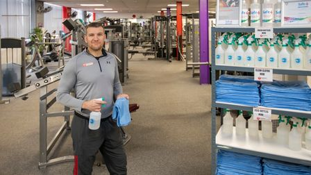 Mark Bone owner of Phoenix Gym in Norwichprepares to re-open on April 12th 2021 after a Covid lockd
