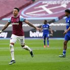 West Ham United's Jesse Lingard celebrates scoring their side's second goal of the game during the P