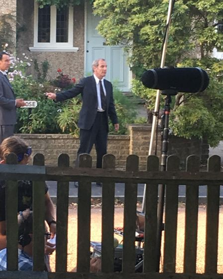 Robson Green photographed during filming for Grantchester in St Albans. Picture: Joe Kaloczi.