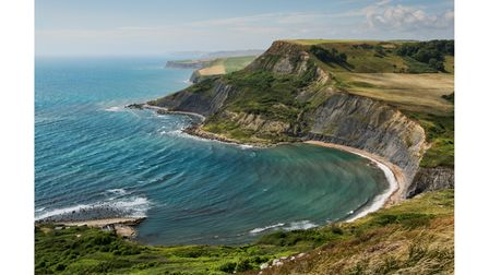 Chapmans Pool can be seen from the South West Coastal Path in Dorset