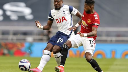 Tottenham Hotspur's Serge Aurier (left) and Manchester United's Fred battle for the ball during the