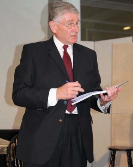 Dennis Bowron as Ernest in the online production of Mrs Simpson in Felixstowe