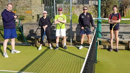Clevedon Lawn Tennis Club held their first social tournament since the easing of restrictions on April 3