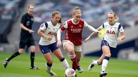 Arsenal's Kim Little during the FA Women's Super League match at the Tottenham Hotspur Stadium, Lond