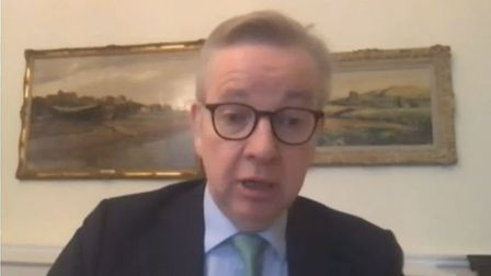 Duchy of Lancaster Michael Gove answers questions from politicians. Photograph: Parliament TV.