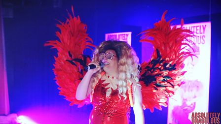 Marilyn is one of two drag queens performing in the Absolutely Dragulous tour
