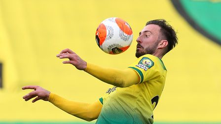 Josip Drmic of Norwich in action during the Premier League match at Carrow Road, Norwich Picture by