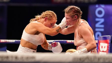 *** FREE FOR EDITORIAL USE ***Shannon Courtenay vs Ebanie Bridges, Vacant WBA World Female Bantamwe