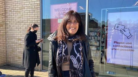 Lorraine Pavey was excited to be out on the High Street in Huntingdon.