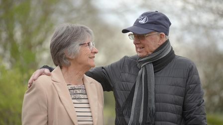 Barry Girling, who has published a new booklet about bargemen in Ipswich, with wife Elaine, who also worked on the book