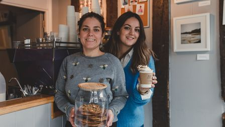 Sisters Hannah Huntly and Beth Tchie, owners of Applaud Coffee in St Peter's Street, Ipswich