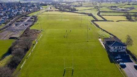 An aerial view of the rugby club site.