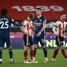 Players shake hands after the Premier League match at at Bramall Lane, Sheffield. Picture date: Sund