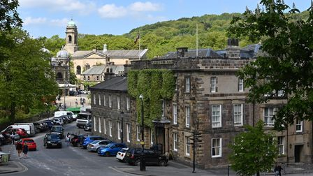 The Old Hall, one of Buxton's most iconic landmarks, with the Opera House in the distance