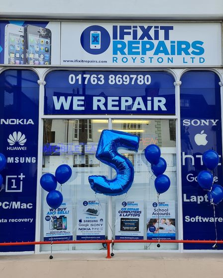 IFixit Repairs, Royston, celebrated their 5th birthday on reopening day
