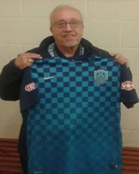 Outgoing Arlesey Town chairman John Morrell.