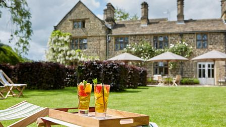The summer terrace at The Peacock at Rowsley is the perfect place to spend an afternoon