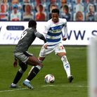 Queens Park Rangers' Chris Willock (right) and Sheffield Wednesday's Osaze Urhoghide (left) battle f