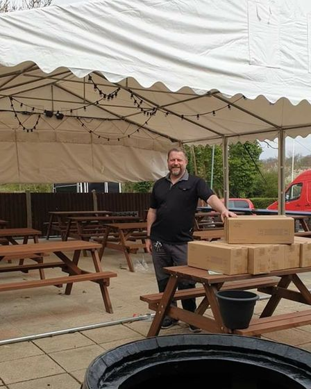 Russ Crosbie is keen to fill up his marquee