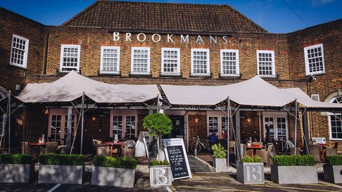 The outside of Brookmans in Bradmore Green, Brookmans Park, Hertfordshire.