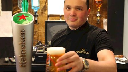 Assistant manager Sam shows us how it's done at the Rising Sun
