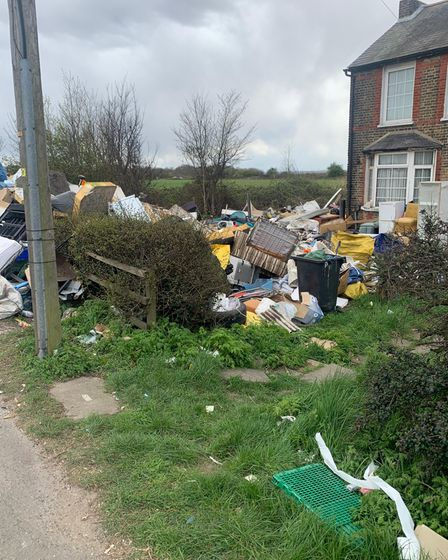 Sofas, fridges and huge array of every waste has been piling up
