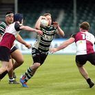 Action during Hendon RFC vs Cranbrook RFC, RFU Junior Vase Rugby Union at Allianz Park on 14th March