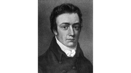 Ottery's famous poet Samuel Taylor Coleridge as a young man