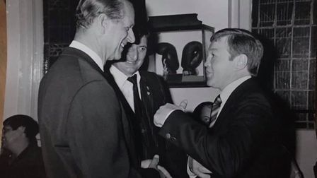 Prince Philip meets Terry Spinks