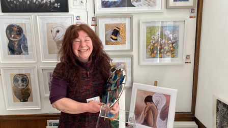 Lindy Osborne, one of the artists at Norwich Art Shop.