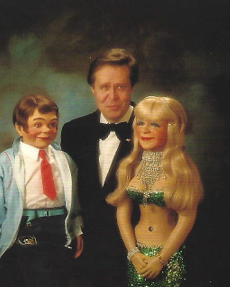 John Bouchier in a promotional shot from his ventriloquist career.