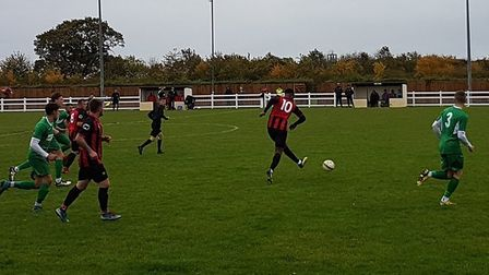 Huntingdon Town in action at Jubilee Park