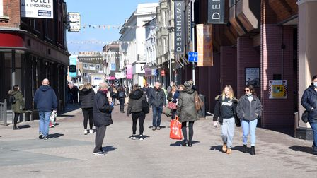 Ipswich highstreet was swarming with people as the shops, hairdressers and pubs re-open today (April