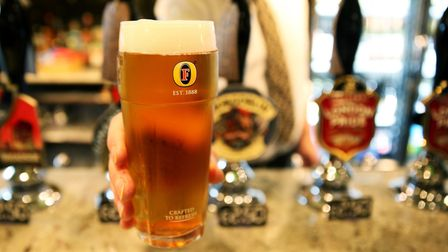 Picture of a pint at a pub. PIC: Brian Lawless PA.