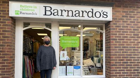 Lesley Moore, store assistant at Barnardo's