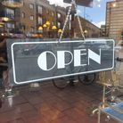 Hackney shop's open sign.
