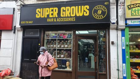 Super Grows Hair and Accessories shop in the Narroway onMare Street.
