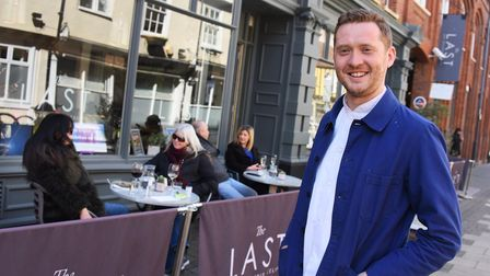 Chef Iain McCarten at The Last, happy to welcome customers back as Covid restrictions are eased. Pic