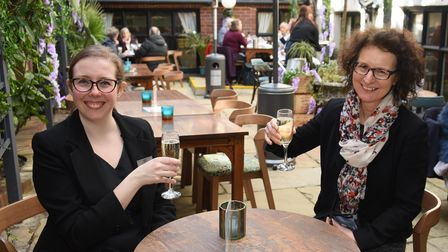 Gemma Anderson, left, restaurant manager, and Georgina Postlethwaite, sales manager, in the new cove