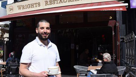 Marios Charalambides, owner, happy to open Wrights Restaurant in Great Yarmouth, as Covid restrictio