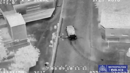 The stolen Audi SQ2 turns into Mansfield Road during a police chase on July 19 2019