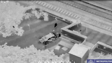 CCTV of the stolen car being ditched in Gordon House Road