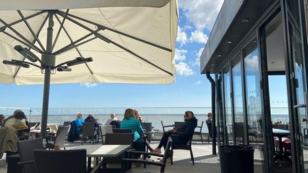 A nice waterfront view being enjoyed as pubs reopen