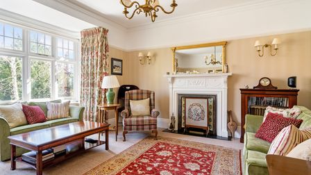 Large bay windows are a feature of the principal reception rooms.